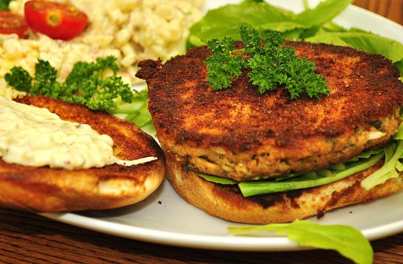 8-salmon burgers