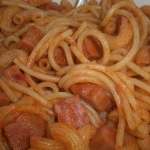 9-sweet potato spaghetti with meat sauce