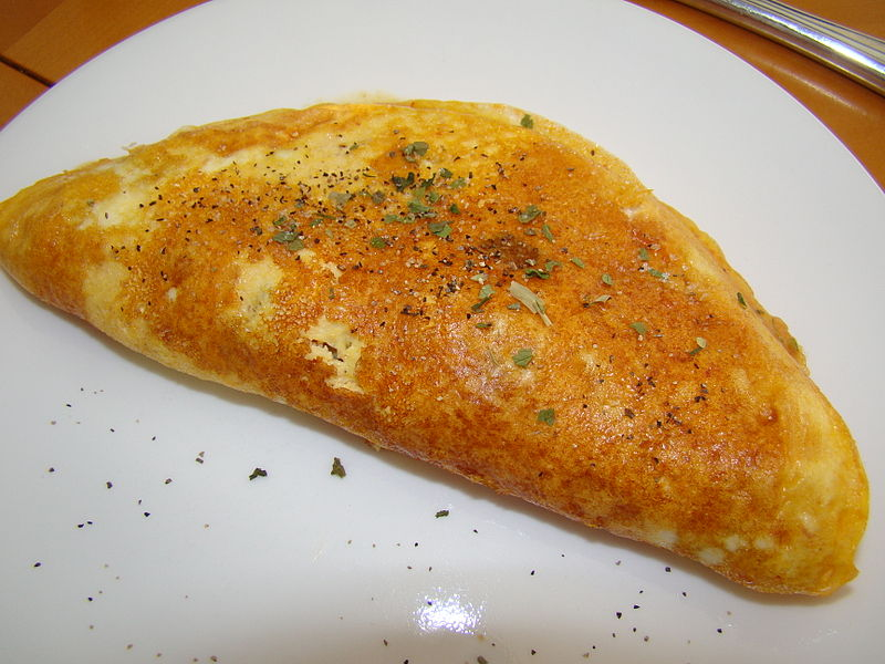 1-Apple cinnamon omelet