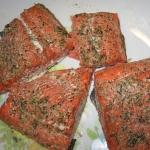 Wild Salmon With Lemon Dill Sauce