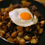 4-Cassava bacon hash