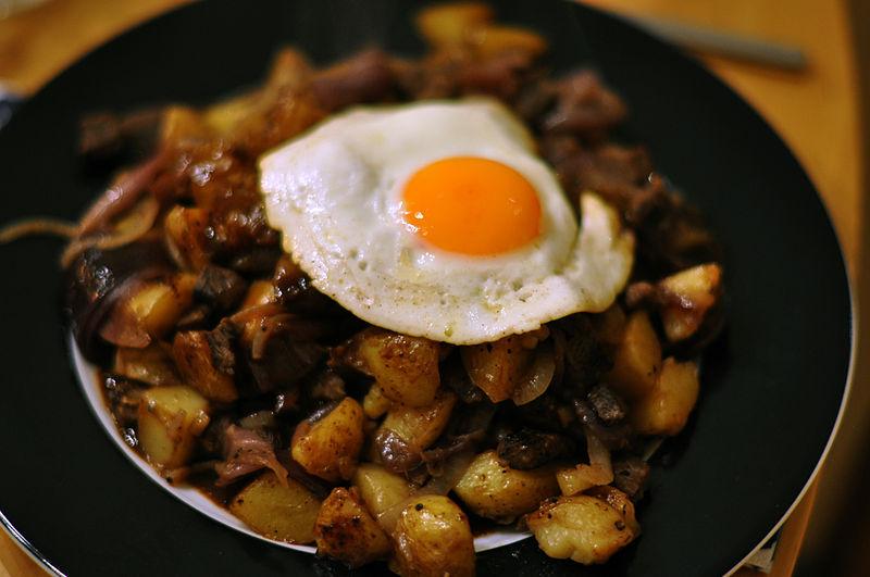 4-Cassava bacon hash