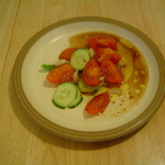 Heirloom Tomato Salad with Garlic Scape