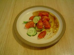4-Heirloom Tomato Salad with Garlic Scape