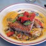 Crusted Salmon with Cherry Tomato Salsa